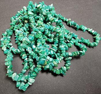 Mörk Amazonit Chip Halsband