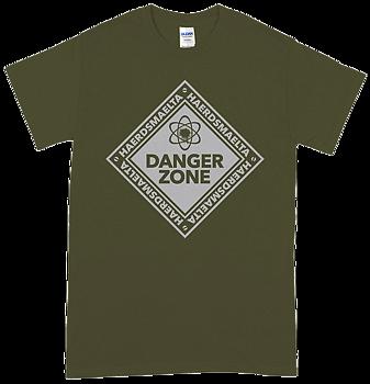 HAERDSMAELTA - Danger Zone Military Green T-shirt [PRE-ORDER]