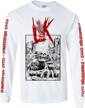 LIK - Misanthropic Breed White Longsleeve