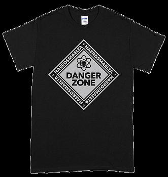 HAERDSMAELTA - Danger Zone Black T-shirt [PRE-ORDER]