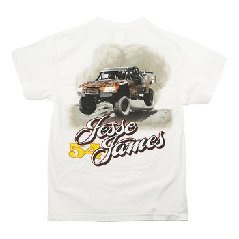 "JESSE JAMES T-SHIRT "" FRÅN WESTCOAST CHOPPERS"" VIT, 3XL"