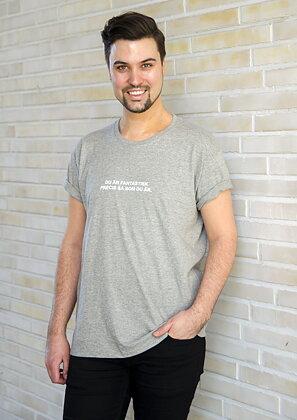 Du Är Fantastisk - T-shirt Grey Melange