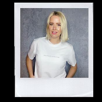 Häpen/näpen - Vit T-shirt