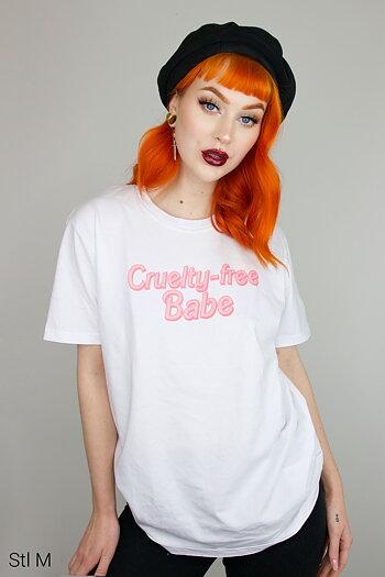 Cruelty-free Babe - Vit T-shirt