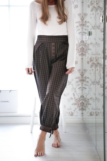 Jeanne d`Arc Living - Checkered cotton pants