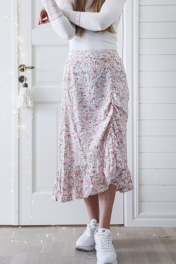 Handpicked - Long skirt with flowerpattern and ruffle