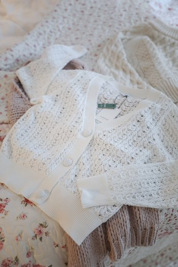 b.young - Lace cardigan white