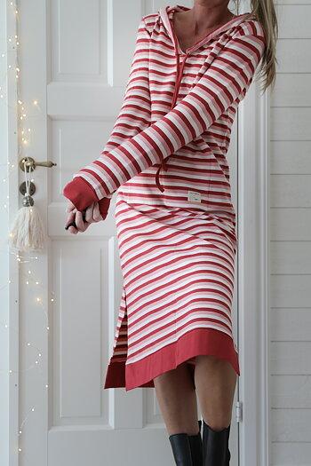 Hanna . R . Blooming - Long älsklingshoodie dress Happyness