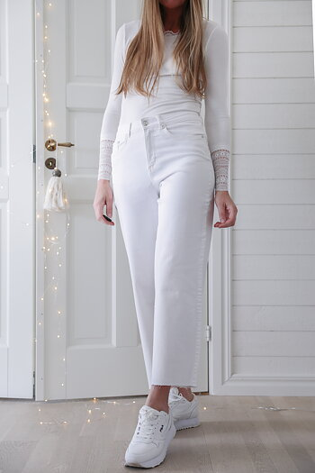 Handpicked - White jeans wide legs
