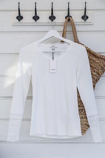 Handpicked - White top with lace