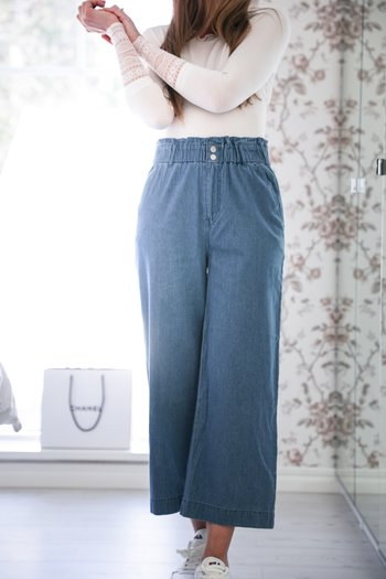 Handpicked - Soft wide jeans with high waist