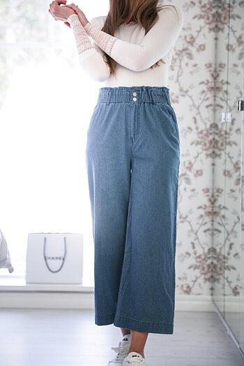 Handpicked - Mjuka vida jeansbyxor med hög midja
