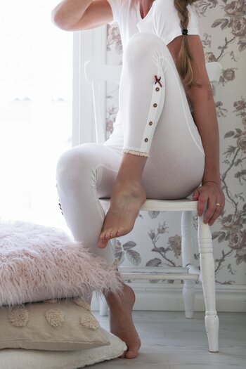 Blooming - Honey leggings vit kort