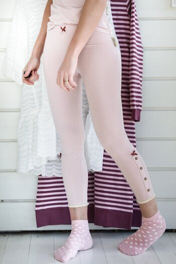 Blooming - Honey leggings dimrosa kort