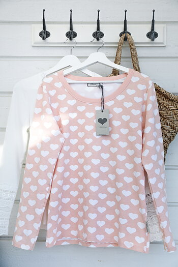 Blooming – Top with hearts  peach