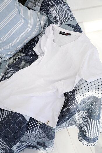 Handpicked - Krispig vit T-shirt