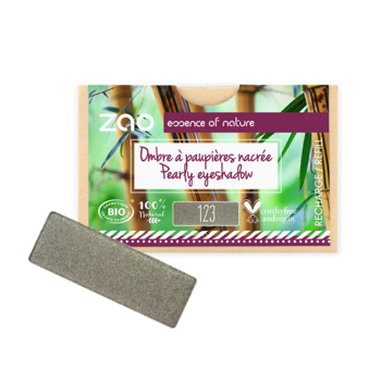 ZAO Refill Rectangle Eye Shadow 123 Grey Khaki