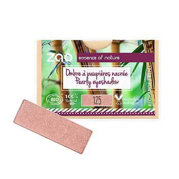 ZAO Refill Rectangle Eye Shadow 125 Sunshiny Pink