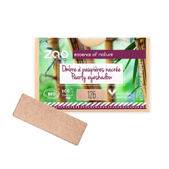 ZAO Refill Rectangle Eye Shadow 126 Golden Petal