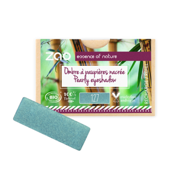 ZAO Refill Rectangle Eye Shadow 127 Peacock Blue