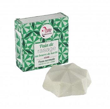 LAMAZUNA Green Tea & Lemon Shaving Bar 55g