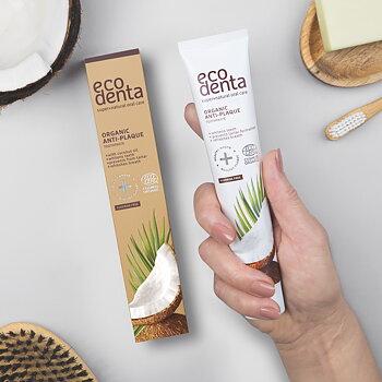 ECODENTA Organic Anti-plaque Toothpaste Coconut (uten fluor)