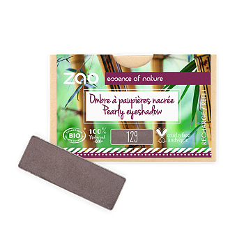 ZAO Refill Rectangle Eye Shadow 129 Taupe