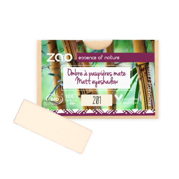 ZAO Refill Rectangle Eye Shadow 201 Ivory