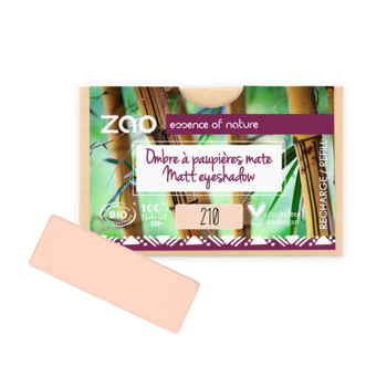ZAO Refill Rectangle Eye Shadow 210 Peachy Pink