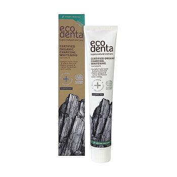 ECODENTA Organic Whitening Toothpaste Charcoal (uten fluor)