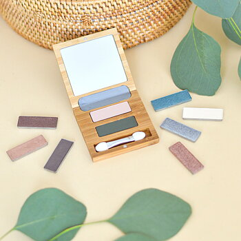 ZAO Refillable Bamboo Duo Palette