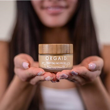 ORGAID Honey Crystal & Brown Rice Purifying Face Polish 56g