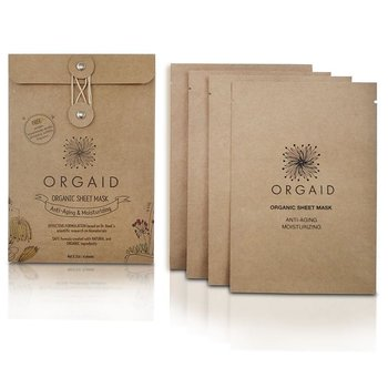 ORGAID Anti-Aging & Moisturizing Organic Sheet Mask Box (4 stk.)
