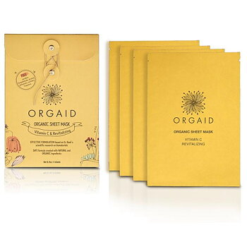ORGAID Vitamin C & Revitalizing Organic Sheet Mask Box (4 stk.)