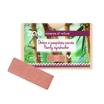 ZAO Refill Rectangle Eye Shadow 132 Peach Pink