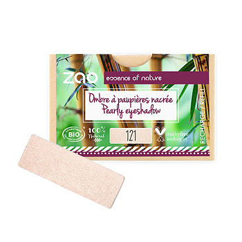 ZAO Refill Rectangle Eye Shadow 121 Pearly Ivory
