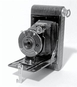 Begagnad antik kamera