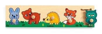 Träpussel för små barn Skogens Djur