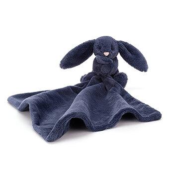 Snuttefilt mainblå kanin Bashful