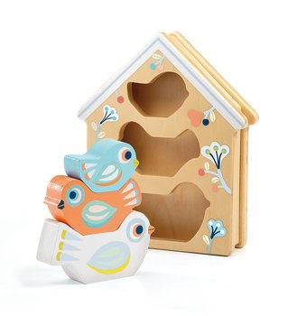 Pussel för små barn fågelholk
