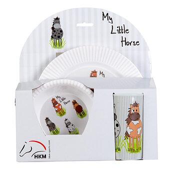 Tallrik skål och mugg -Little Horses-
