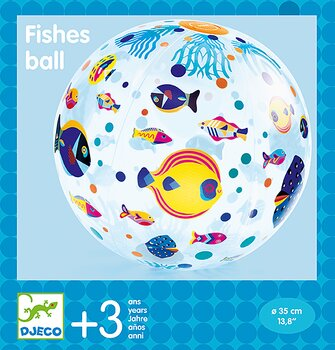 Badboll med fiskar
