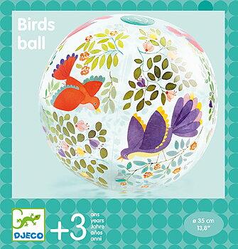 Badboll med fåglar