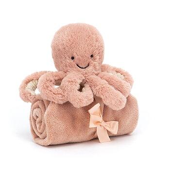 Snuttefilt rosa bläckfisk