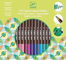 24 vattenfärg Pennor