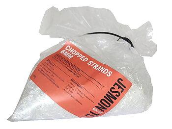 Jesmonite Hackad Glasfiber 6 mm - 1 kg