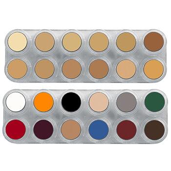 Grimas Crème color Teatersmink - Palett K (B+V), 24 Färger