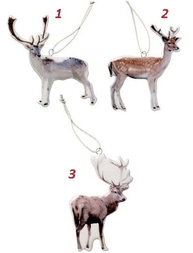 Dekorationer porslin 3 sorter ren hjort rådjur vit porslin shabby chic lantlig stil