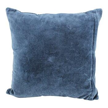 Kuddfodral blå sammet Lapptäcksteknik shabby chic lantlig stil