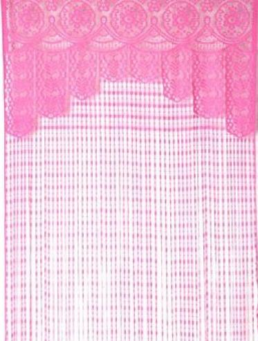 Spetsgardin draperi rosa pastell romantisk shabby chic lantlig stil